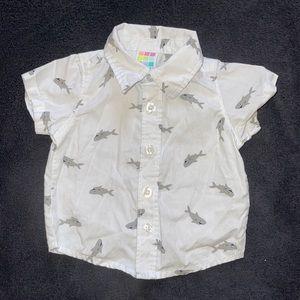 $3 Sale Healthtex Baby NB Dress Shirt Shark